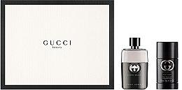 Düfte, Parfümerie und Kosmetik Gucci Guilty Pour Homme - Duftset (Eau de Toilette 50ml + Deostick 75ml)