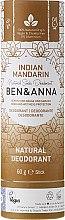 Düfte, Parfümerie und Kosmetik Natürlicher Soda Deo-Stick Indian Mandarine - Ben & Anna Natural Soda Deodorant Paper Tube Indian Mandarine