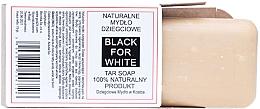Düfte, Parfümerie und Kosmetik Natürliche Teerseife - Biomika Black For White