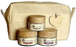 Düfte, Parfümerie und Kosmetik Gesichtspflegeset für trockene und normale Haut - Shy Deer Natural Ritual Set (Creme-Maske 50ml + Gesichtscreme 50ml + Augenkonturcreme 30ml + Kosmetiktasche)