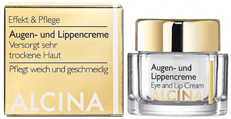 Anti-Aging Creme für Augenlider und Lippen - Alcina E Eye and Lip Cream — Bild N3