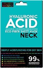 Düfte, Parfümerie und Kosmetik Intensiv feuchtigkeitsspendende Tuchmaske für den Hals mit Hyaluronsäure - Beauty Face IST Extremely Moisturizing Booster Neck Mask Hyaluronic Acid