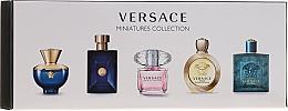 Düfte, Parfümerie und Kosmetik Versace Miniatures Collections - Duftset (Eau de Toilette 4x5ml + Eau de Parfum 5ml)