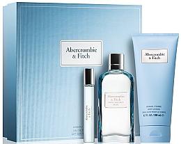 Düfte, Parfümerie und Kosmetik Abercrombie & Fitch First Instinct Blue Women - Duftset (Eau de Parfum/100ml + Körperlotion/100ml + Eau de Parfum/15ml)