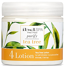 Düfte, Parfümerie und Kosmetik Entspannende Massagelotion mit mit Teebaumextrakt - IBD Tea Tree Purify Pedi Spa Massage Lotion