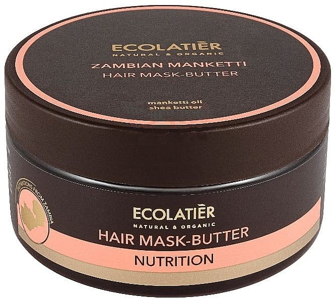 Nährende Haarmaske-Butter mit Mankettiöl und Sheabutter - Ecolatier Butter Mask