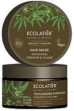 Düfte, Parfümerie und Kosmetik Stärkende und texturierende Haarmaske - Ecolatier Organic Cannabis Hair Mask