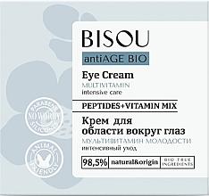 Düfte, Parfümerie und Kosmetik Augencreme mit Peptiden und Vitaminen - Bisou AntiAge Bio Eye Cream