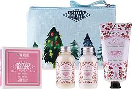 Düfte, Parfümerie und Kosmetik Körperpflegeset - Institut Karite Rose Mademoiselle (Duschgel 50ml + Körpermilch 50ml + Handcreme 75ml + Seife 100g