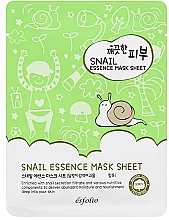 Düfte, Parfümerie und Kosmetik Tuchmaske für das Gesicht mit Schneckenschleimfiltrat - Esfolio Pure Skin Snail Essence Mask Sheet