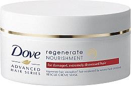 Düfte, Parfümerie und Kosmetik Nährende Haarmaske für beschädigte und müde Haare mit Keratin und Rotalgen - Dove Advanced Regenerate Nourishment Creme Mask