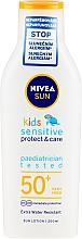 Düfte, Parfümerie und Kosmetik Sonnenschutzlotion für Kinder SPF 50+ - Nivea Sun Kids Pure & Sensitive Sun Lotion SPF50+