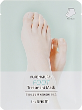 Düfte, Parfümerie und Kosmetik Feuchtigkeitsspendende und glättende Fußbehandlung-Maske für raue und rissige Haut - The Saem Pure Natural Foot Treatment Mask