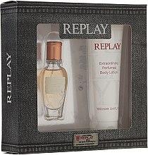 Düfte, Parfümerie und Kosmetik Replay Jeans Original for Her - Duftset (Eau de Toilette/20ml + Körperlotion/100ml)