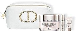 Düfte, Parfümerie und Kosmetik Gesichtspflegeset - Dior Capture Totale Set (Gesichtscreme 60ml + Augencreme 5ml + Gesichtsserum 7ml + Kosmetiktasche)