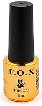 Düfte, Parfümerie und Kosmetik Decklack ohne Klebeschicht mit Matt-Effekt - F.O.X Top Matte No Wipe