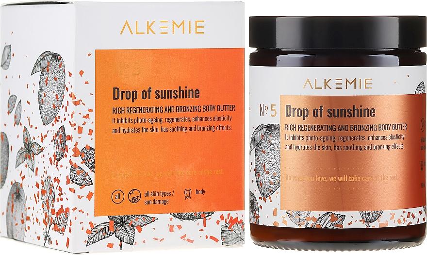 Regenerierende und bronzierende Körperbutter - Alkemie Drop Of Sunshine Regenerating & Bronzing Body Butter