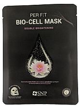 Düfte, Parfümerie und Kosmetik Aufhellende tonisierende und ausgleichende biocellulose Tuchmaske für das Gesicht mit Lotusblumenextrakt und Glutathtion - SNP Brightening Bio-cell Mask