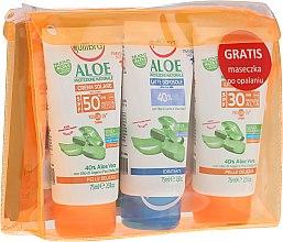 Düfte, Parfümerie und Kosmetik Set - Equilibra Aloe Line (cr/75ml + b/milk/75 + cr/75ml + bag)