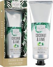 Düfte, Parfümerie und Kosmetik Hand- und Nagelcreme Coconut & Lime - Scottish Fine Soaps Coconut & Lime Hand & Nail Cream
