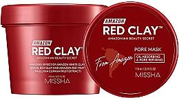Düfte, Parfümerie und Kosmetik Porenminimierende Gesichtsmaske mit roter Tonerde für fettige Haut - Missha Amazon Red Clay Pore Mask