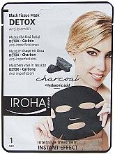 Düfte, Parfümerie und Kosmetik Anti-Makel Tuchmaske für das Gesicht mit Aktivkohle - Iroha Nature Detox Black Tissue Mask Charcoal