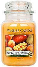 """Düfte, Parfümerie und Kosmetik Yankee Candle Mango Peach Salsa - Duftkerze im Glas mit natürlichen Fruchtextrakten """"Mango Peach Salsa"""""""