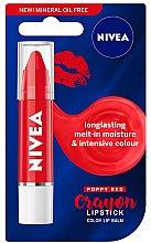 Düfte, Parfümerie und Kosmetik Lippenbalsam - Nivea Poppy Red Crayon Lipstick