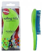 Düfte, Parfümerie und Kosmetik Entwirrbürste grün-blau - Rolling Hills Detangling Brush Travel Size Shine Green