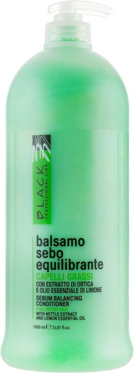 Talgregulierender Conditioner für fettiges Haar mit Brennnesselextrakt und ätherischem Zitronenöl - Black Professional Line Sebum-Balancing Conditioner
