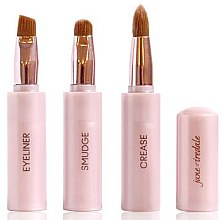 Düfte, Parfümerie und Kosmetik 3in1 Kompakte Makeup-Pinsel - Jane Iredale Brush Snappy Wand 3 in 1 Limited Edition