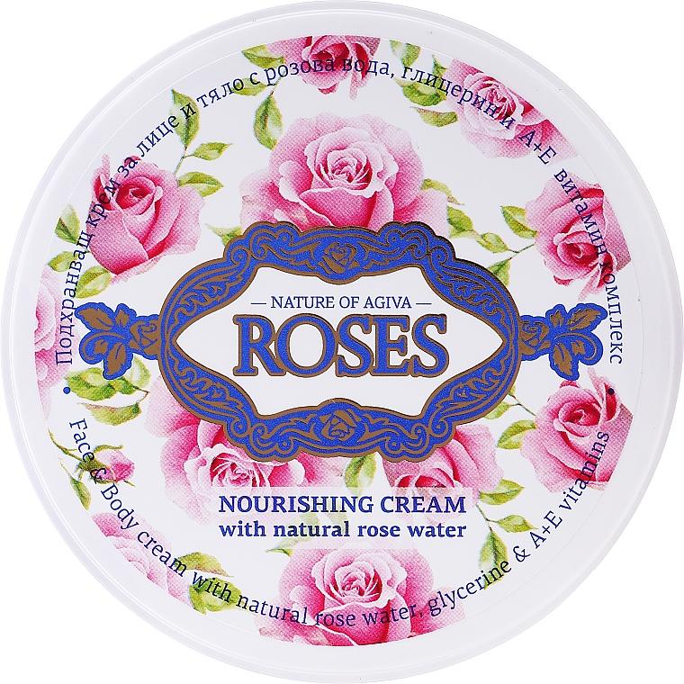 Nährende Gesichtscreme mit natürlichem Rosenwasser - Nature of Agiva Roses Face Cream