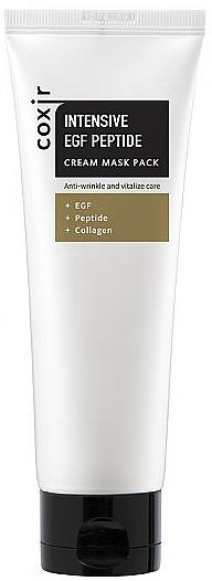 Vitalisierende Anti-Falten Gesichtscreme-Maske mit Peptiden und Kollagen - Coxir Intensive EGF Peptide Cream Maskpack