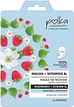 Düfte, Parfümerie und Kosmetik Feuchtigkeitsspendende und pflegende Tuchmaske mit Himbeere und Vitamin B3 - Polka Raspberry And Vitamin B3 Facial Sheet Mask