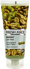Düfte, Parfümerie und Kosmetik Körperpeeling mit Zitronengras und grünem Kaffee - Fresh Juice Lemongrass Green Coffee