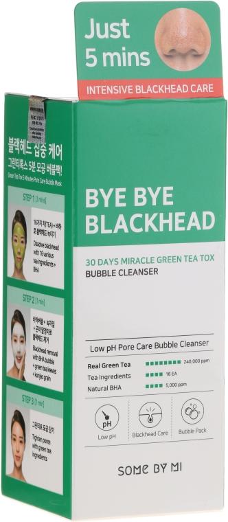Schaummaske für das Gesicht mit grünem Tee gegen Mitesser - Some By Mi Blackhead 30Days Miracle Green Tea Tox Bubble Cleanser