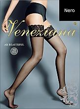Düfte, Parfümerie und Kosmetik Lange Damenstrümpfe mit Spitzenband Ar Beautiful 20 Den nero - Veneziana