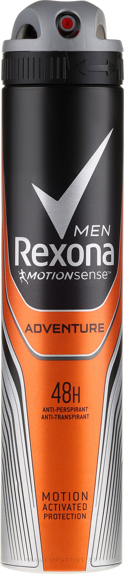Deospray Adventure Antitranspirant - Rexona Deodorant Spray Man — Bild 200 ml