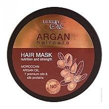 Düfte, Parfümerie und Kosmetik Stärkende Haarmaske mit Arganöl und Seidenprotein - Argan Haircare