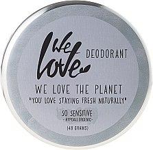 Düfte, Parfümerie und Kosmetik Natürliche Deo-Creme für empfindliche Haut - We Love The Planet Deodorant So Sensitive