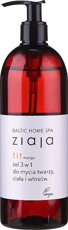 Universelles feuchtigkeitsspendendes Duschgel für Gesicht, Körper und Haar mit Mangoduft (mit Pumpenspender) - Ziaja Baltic Home Spa Gel Mango