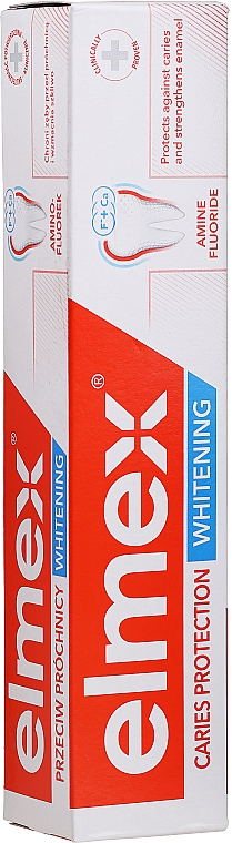 Aufhellende Anti-Karies Zahnpasta mit Aminfluorid - Elmex Caries Protection Whitening Toothpaste