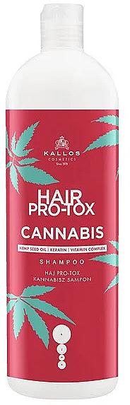 Shampoo mit Hanfsamenöl, Keratin und Vitaminkomplex - Kallos Pro-tox Cannabis Shampoo