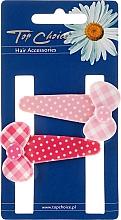 Düfte, Parfümerie und Kosmetik Haarspange 23682 rosa und weiß 2 St. - Top Choice