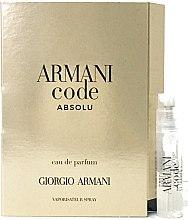 Düfte, Parfümerie und Kosmetik Giorgio Armani Code Absolu - Eau de Parfum (Tester)
