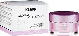 Düfte, Parfümerie und Kosmetik Beruhigende Gesichtsmaske mit Lavendelduft - Klapp Aroma Selection Lavender Calming Mask