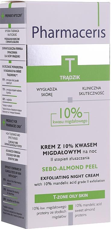 Nachtcreme-Peeling mit 10% Mandelsäure - Pharmaceris T Sebo-Almond-Peel Exfoliting Night Cream