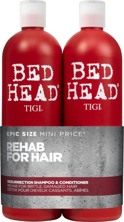 Haarpflegeset - Tigi Bed Head Resurrection Shampoo&Conditioner (Shampoo 750ml + Conditioner 750ml)