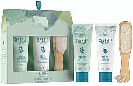 Düfte, Parfümerie und Kosmetik Fußpflegeset - Scottish Fine Soaps Sea Kelp Foot Care Pamper Kit (Fußpeeling 75ml + Fußbalsam 75ml + Fußfeile)