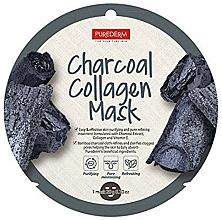 Düfte, Parfümerie und Kosmetik Feuchtigkeitsspendende Tuchmaske für das Gesicht mit Aktivkohle - Purederm Charcoal Collagen Mask